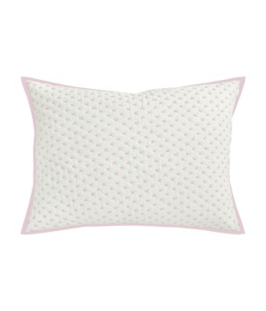 Addison-Dutch Euro-Sham-Natural w/ Rose Quartz Stitch