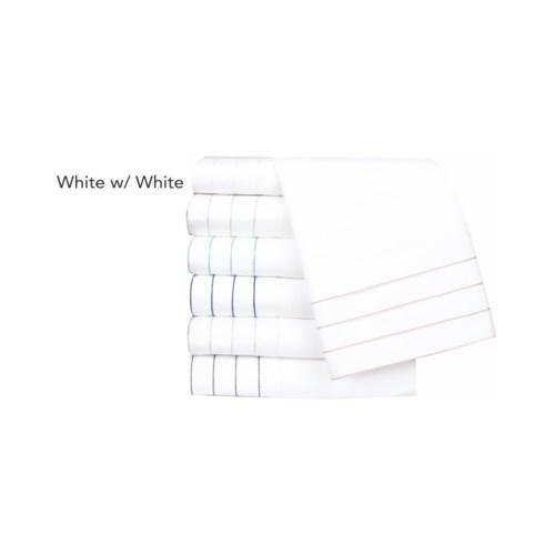 Jordan-King-Pillowcases-White w/ White Stitching