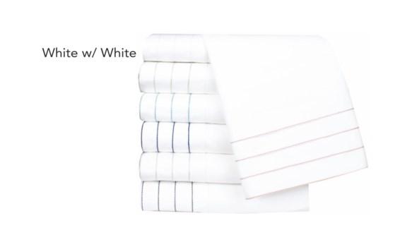 Jordan-Queen-Sheet Set-White w/ White Stitching