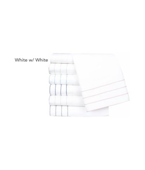 Jordan-Standard-Pillowcases-White w/ White Stitching