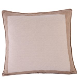 Cushion Camel Boardered WHITE/CAMEL