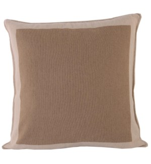 Cushion Camel Boardered CAMEL/WHITE