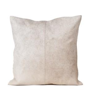 """Cushion Cowhide Natural Grey 20x20"""""""