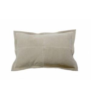 """Cushion Cowhide Light Beige 15x23"""""""