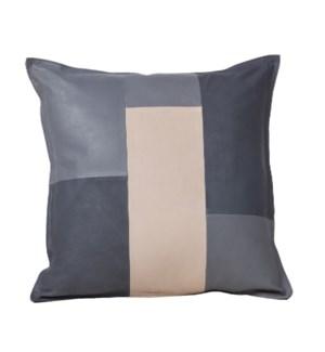 """Cushion Goatskin Tri-Color 20x20"""""""