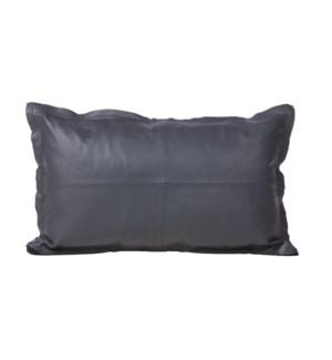 """Cushion Goatskin Black 12x20"""""""