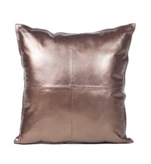 """Cushion Cowhide Bronze 20x20"""""""