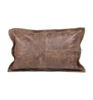 """Cushion Cowhide Distressed Vintage Brown 15x23"""""""