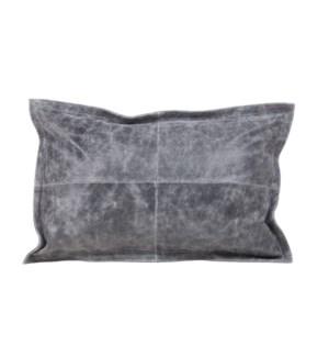 "Cushion Cowhide Distressed Vintage Grey 15x 23"""