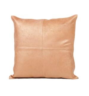 """Cushion Cowhide Copper 20x20"""""""