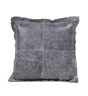 "Cushion Cowhide Vintage Grey 20"""
