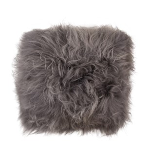 "Cushion Longwool Icelandic 16"" DYED GREY"