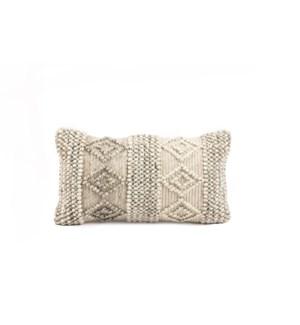 """Kia Ora Natural Wool 14x26"""" Cushion"""