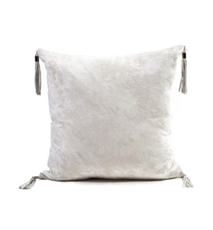 "Cushion Velvet Cowhide CHARLESTON 20"" Cloud Dancer"