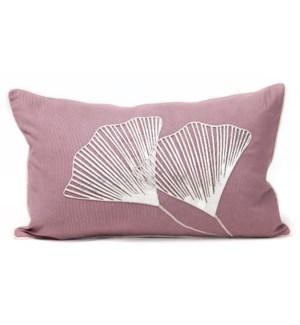 "Cushion Laser Cowhide GINKO Bloom 12x20"""