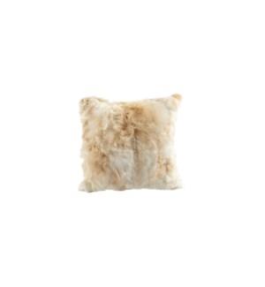 "Cushion Alpaca 20"" Natural Popcorn"