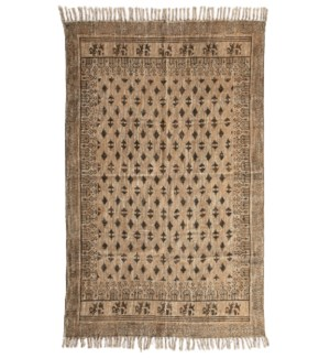Pari Cotton Rug Bronze & Gold 4x6'