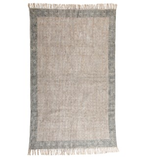 Shefali Cotton Rug Blue 4X6'