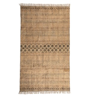 Suvarna Cotton Rug Gold Multi 4X6'