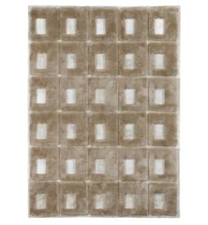 Design Rug Cowhide Blocks 4x6' Honey