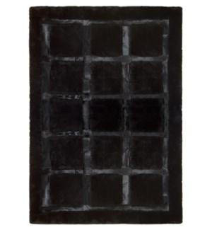 Design Rug Cowhide Plaza 4x6' Black