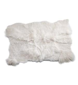 Icelandic Multilayer Organic Shape Rug White