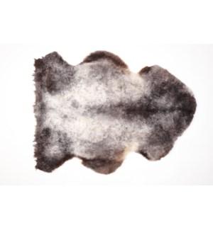 Rug Shortwool Natural Black 95cm