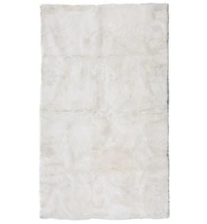 Design Rug Alpaca Suri 4x6' Ivory