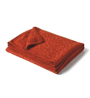 "Baby Alpaca Throw 60x70"" GIRAFFE Rust"