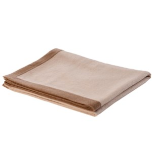 Throw Camel Boardered WHITE/CAMEL