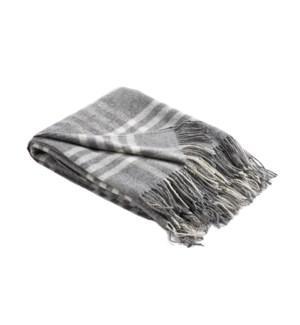 OWEN Woven Throw Grey
