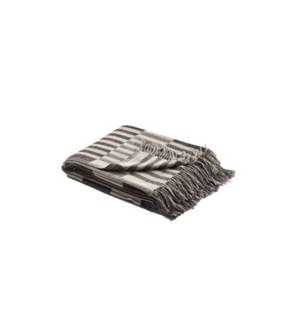 RILEY Woven Throw Grey