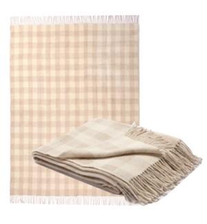 PLAID Wool/Linen Throw