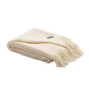 HERRINGBONE Woolen Throw Mist