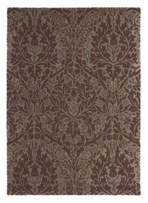 Autumn Flowers 5'7 x 7'10 Rug in Plum