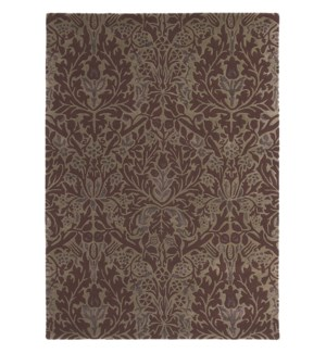 Autumn Flowers 6'7 x 9'2 Rug in Plum