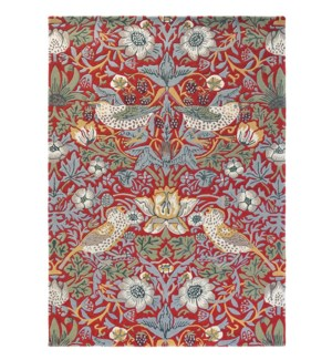 Strawberry Thief 4'7 x 6'7 Rug in Crimson