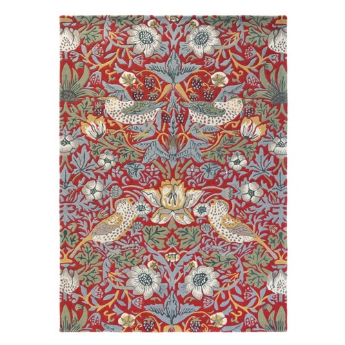 Strawberry Thief 6'7 x 9'2 Rug in Crimson