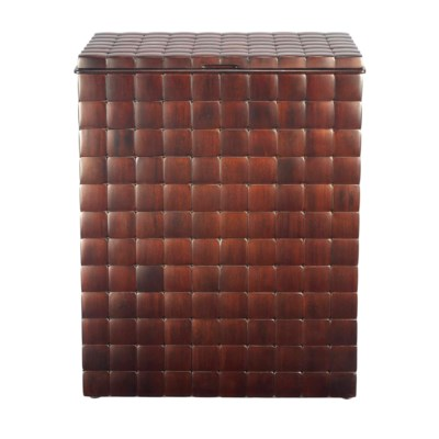 Barclay Hamper with Lid in Mahogany