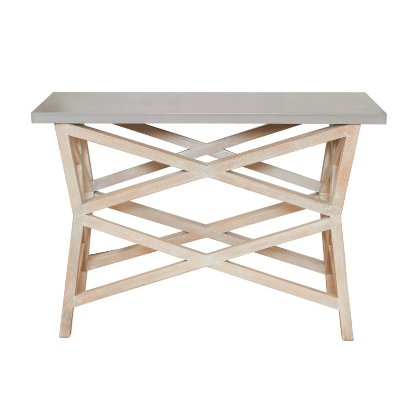 Bridge Console Base in White Wash