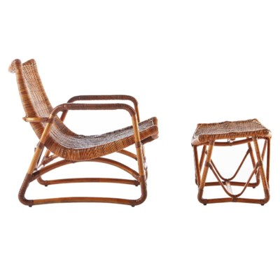 Bodega Lounge Chair & Ottoman in Natural