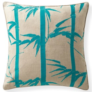 Florence Broadhurst Bamboo Hawaiian Topaz Cushion 18x18