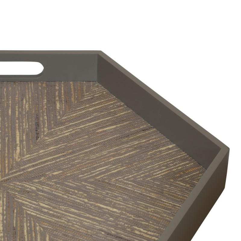 Caprice Hexagonal Tray in Porcini