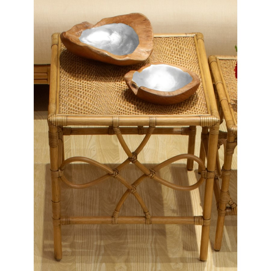 Teak Root Bowl, Small - Silver