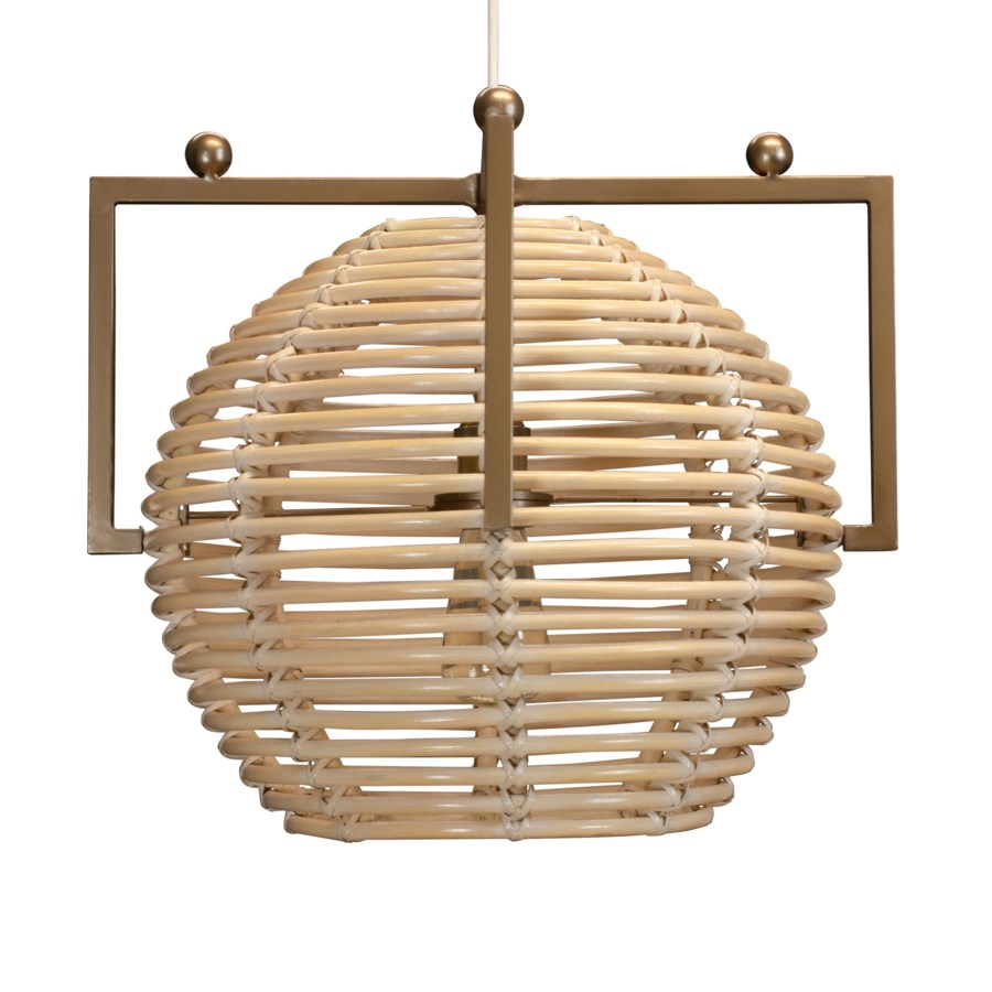 Chrysler Sphere Hanging Pendant White Washe