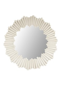 Charles Round Mirror - White