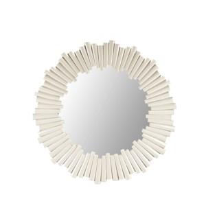 Charles Round Mirror White