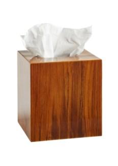 Captain's Tissue Box - Varnished Teak