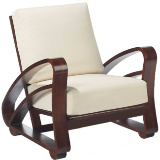 Cuban Lounge Chair - Mahogany