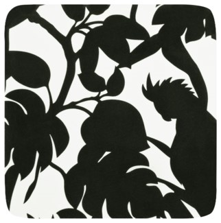 Florence Broadhurst Cockatoos Black Coasters Set of 4 30cm